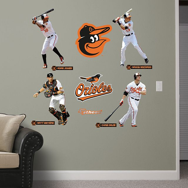 Baltimore Orioles Power Pack REALBIG Fathead Wall Graphic