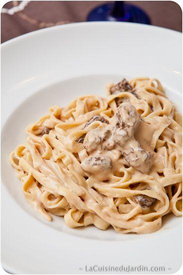 Tagliatelles aux truffes, sauce aux morilles séchées | La Cuisine du Jardin