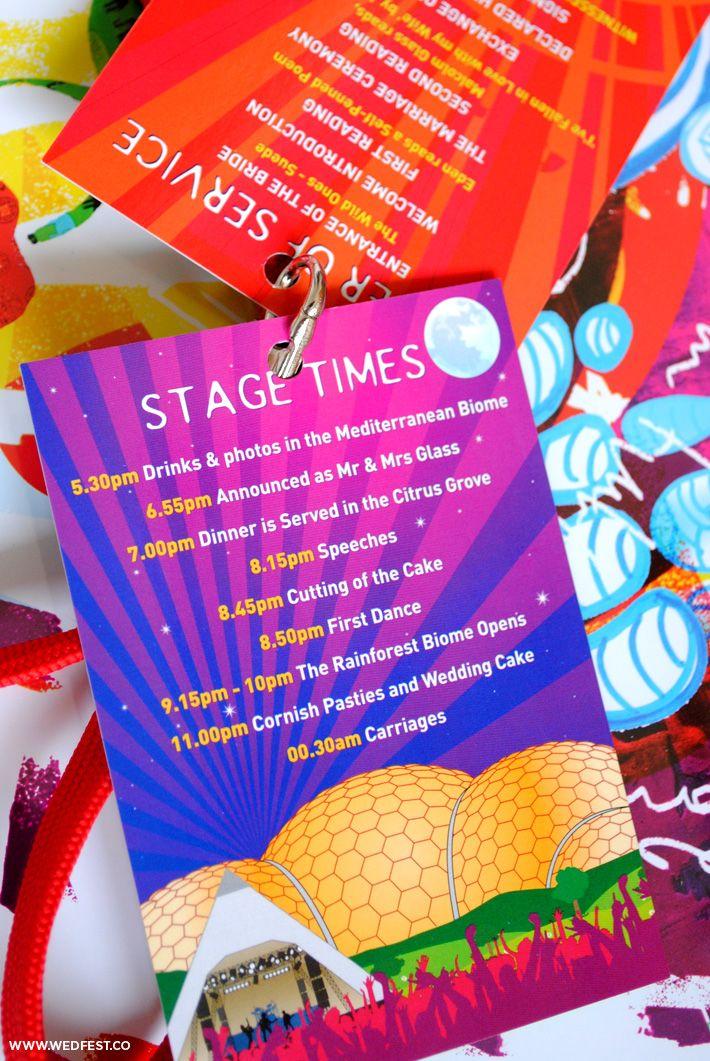 Eden Project / Glastonbury Festival Wedding Lanyards | WED FEST