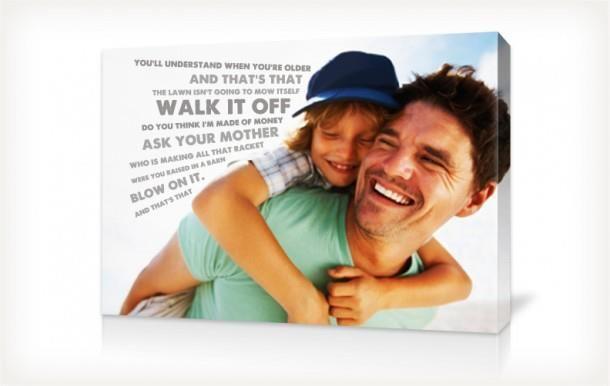 Aggiungi frasi o citazioni nella tua stampa su tela. Idea regalo per la festa della mamma e del papà, compleanni e qualsiasi altro giorno dell'anno. FUN CANVAS PRINT!! www.gruppoantagora.it