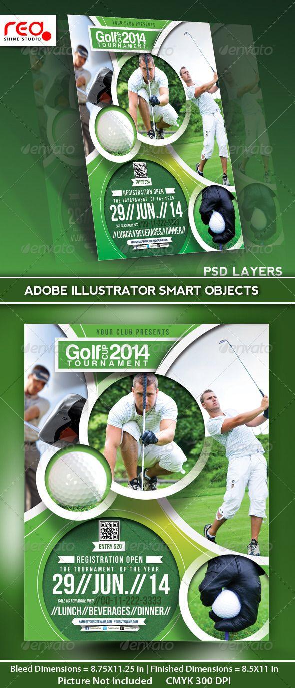 golf tournament flyer poster magazine template graphicriver