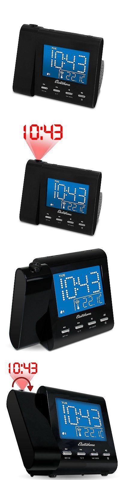 Digital Clocks and Clock Radios: Wall Projector Dual Alarm Clock Radio Music Audio Lcd Digital Display Watches -> BUY IT NOW ONLY: $31.42 on eBay!