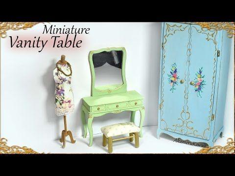 Video: Schminktisch mit Hocker ! Miniature Dollhouse Vanity Tutorial