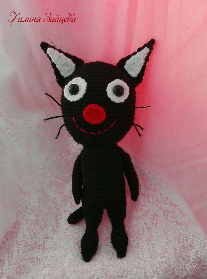 Друг уголёк)) #трикота #уголек #кошки #игрушки #детям #ручнаяработа