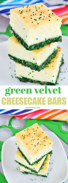 Green Velvet Cheesecake Bars - My Kitchen Recipes