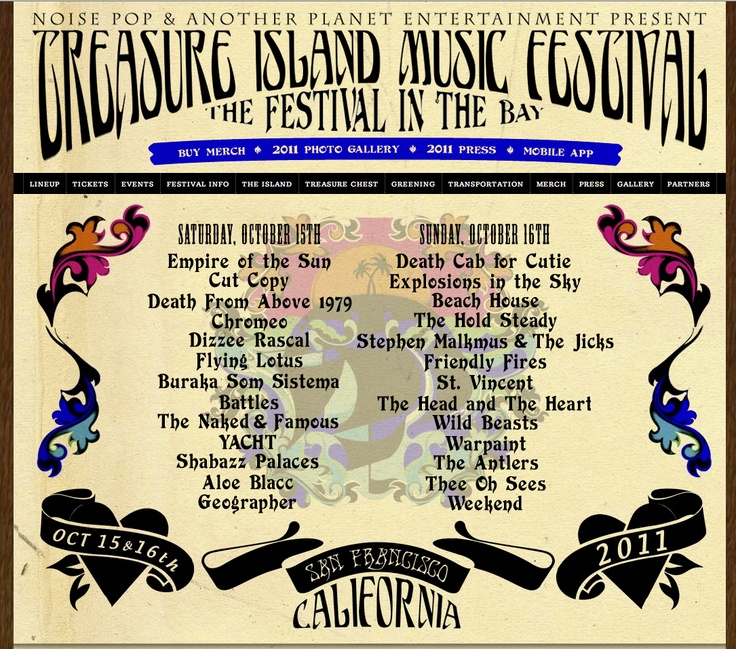 """Treasure Island Music Festival. Well organized (didn't have to choose between stages). Lots to do if didn't want to listen to music. """"Unlike Outside Lands which is chaotic, unorganized and a mass of people."""" - Tiffany"""