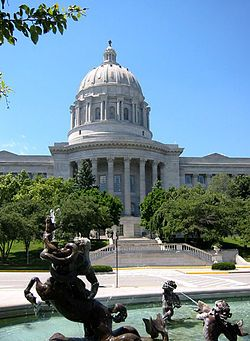 Missouri State Capitol located in Jefferson City, Missouri