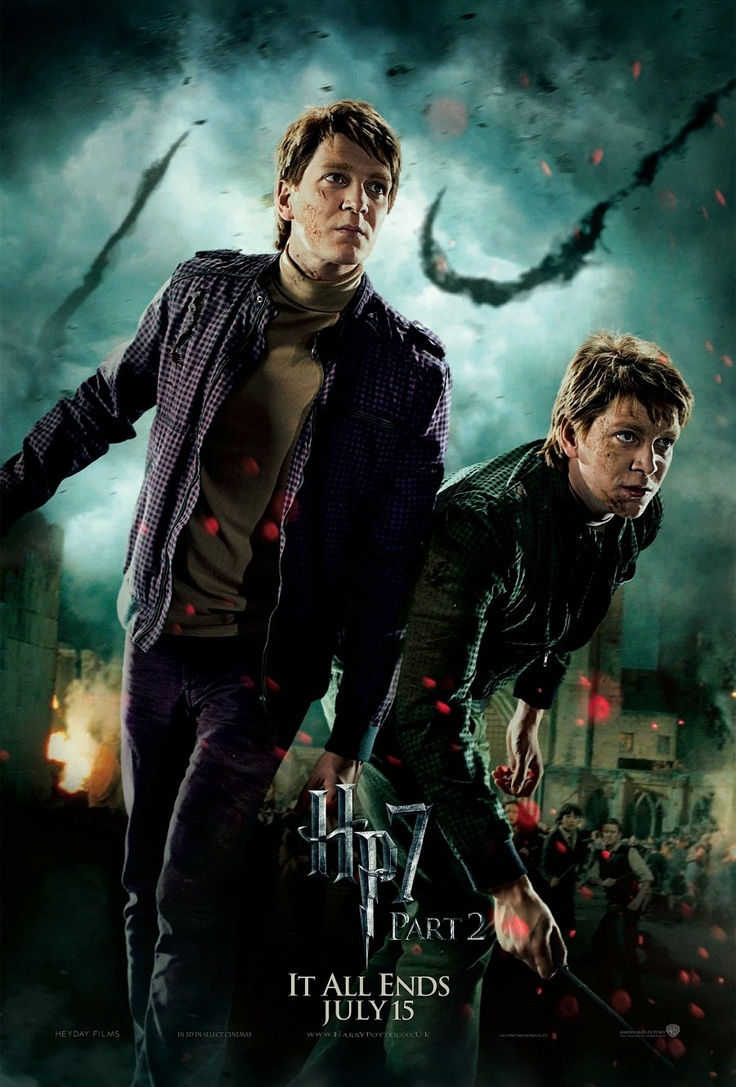 The Weasley Twins (James & Oliver Phelps) in Harry Potter and the Deathly Hallows Part 2 #HarryPotter #3D