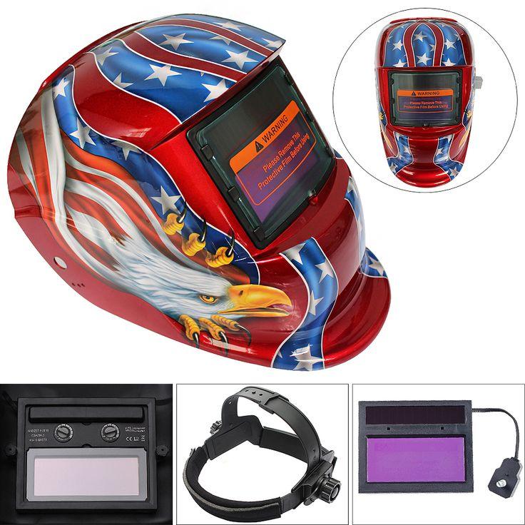 New Red Eagle Adjust Solar Auto Darkening TIG MIG Grinding Welding Helmets / Face Mask / Electric Welding Mask / Weld Cap #Affiliate