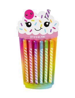 6 Pack Milkshake Gel Pens