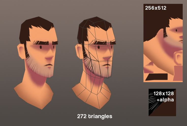 I really like this smooth, stylized type of diffuse map (only?) way of approaching character design. Lots of other nice examples on Some Call Me Klamp - The Portfolio of Kieran J. Lampert