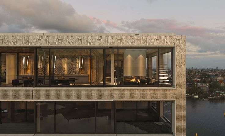 Pontsteiger penthouse Amsterdam designed by TANK
