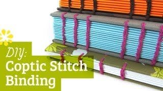 Bookbinding Tutorial: How to Coptic Stitch, via YouTube.