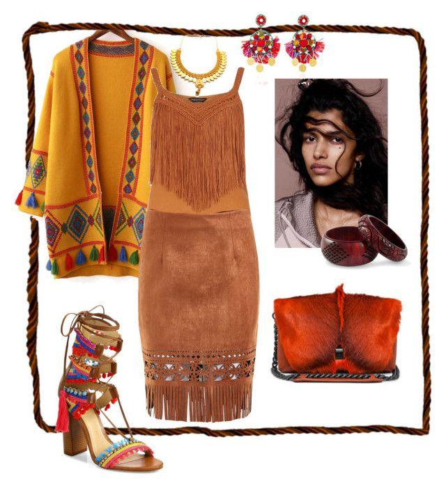 """Фольклорный стиль #Indians"" by anastasia-rysjatova on Polyvore featuring мода, Dorothy Perkins, Schutz, NOVICA, Child Of Wild и Ranjana Khan"