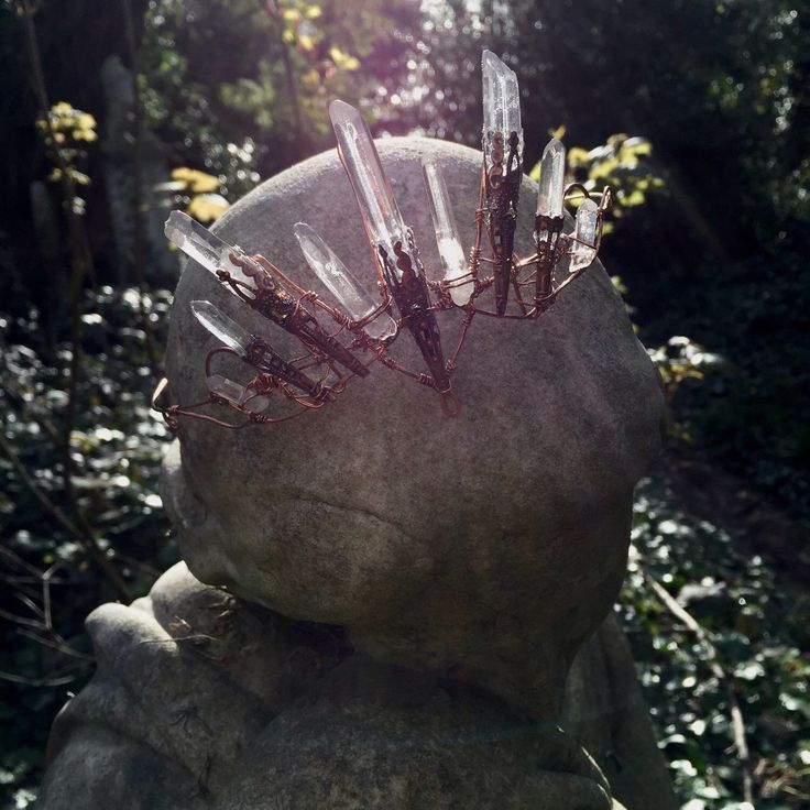 The OPHELIA Crown - Magical Natural Crystal Quartz & Copper Crown Tiara - Ethereal Alternative Wedding Bridal Headdress by HowlingMoonUK on Etsy https://www.etsy.com/listing/229521420/the-ophelia-crown-magical-natural