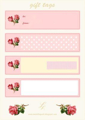 FREE #printable vintage rose #DIY #gift-tags