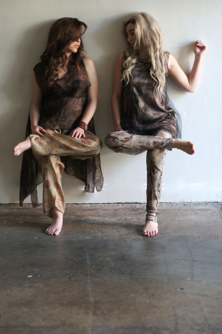 Both our models wearing Eco Tops combined with Eco Dye Pants/Leggings