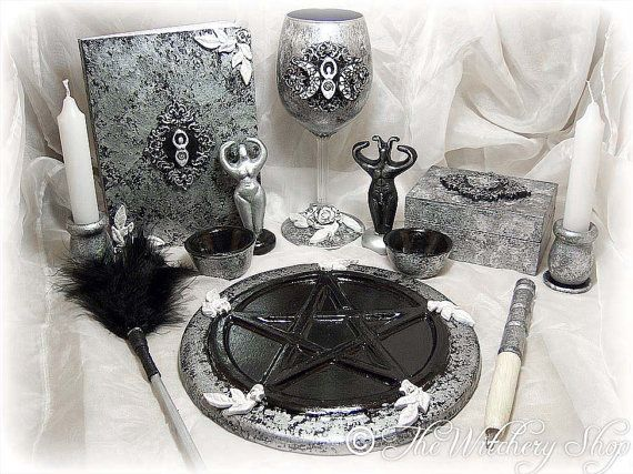 Complete Goddess Altar Set Ritual Set Book by TheWitcheryShop, $79.98
