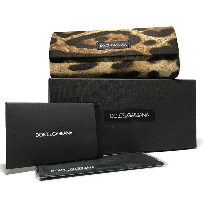DOLCE GABBANA Eyeglasses Leopard Print Hard Case w/cleansing Cloth and Box ONLY #DolceGabbana