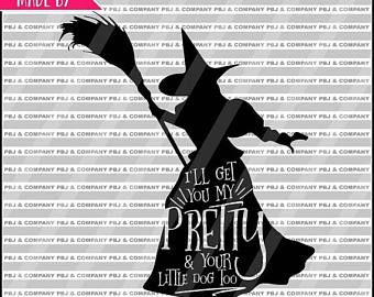 ON SALE Wicked Witch, Quote DIY Cutting File - Svg, Png, dxf, pdf Files - Silhouette Cameo/Cricut
