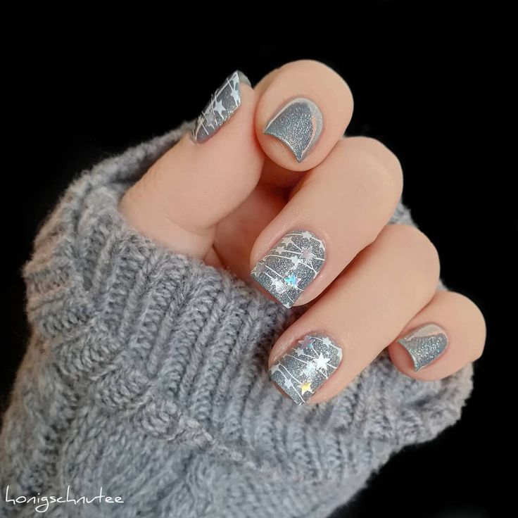 #starnails recent nail fashion, do you like it? You could finish it soon with a stamping plate, try the #nailstamping soon. See more details from bornprettystore.com #bornpretty