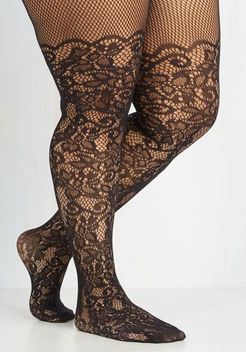 Intricately Exquisite Tights in Plus Size $14.99 AT vintagedancer.com