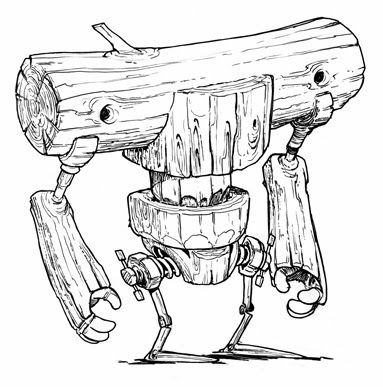Robots concept art: Loggerhead!