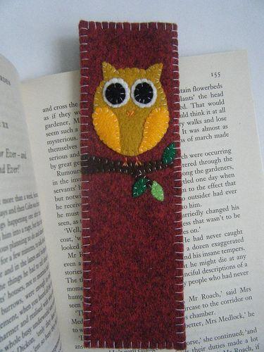 felt: Bookmarks, Felt Crafts, Marker, Book Mark, Felt Bookmark, Felt Owl, Markers
