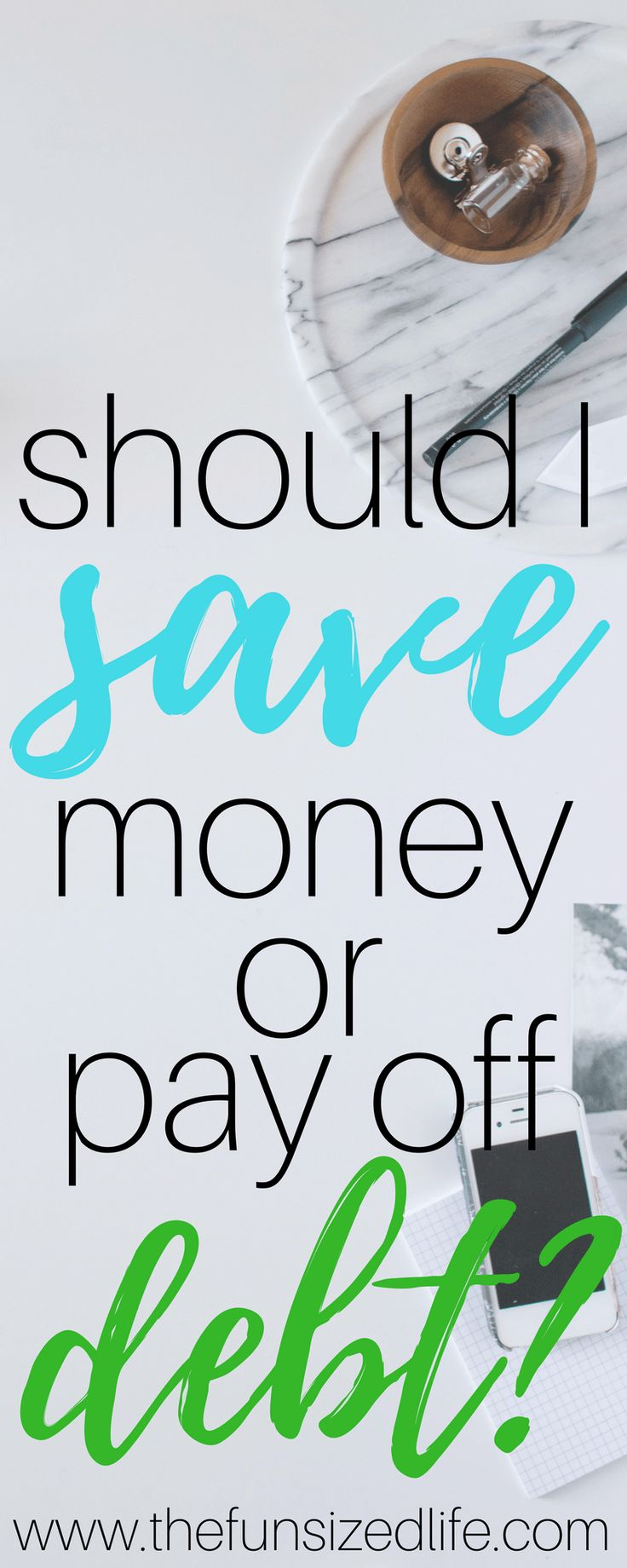 save, debt, debt payoff, savings, should I save, save money, pay off debts, financial peace university, finances, budgeting, get out of debt, debt snowball