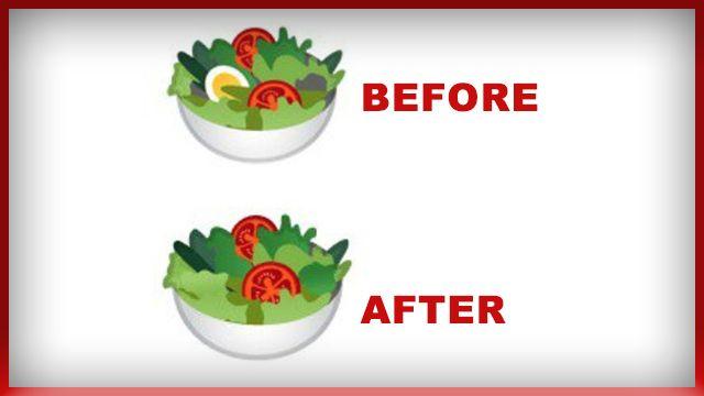 Google Salad Emoji Ditches Egg And Goes Vegan Because Plants Have All The Protein You Need Goddamnit Going Vegan Vegan News Vegan