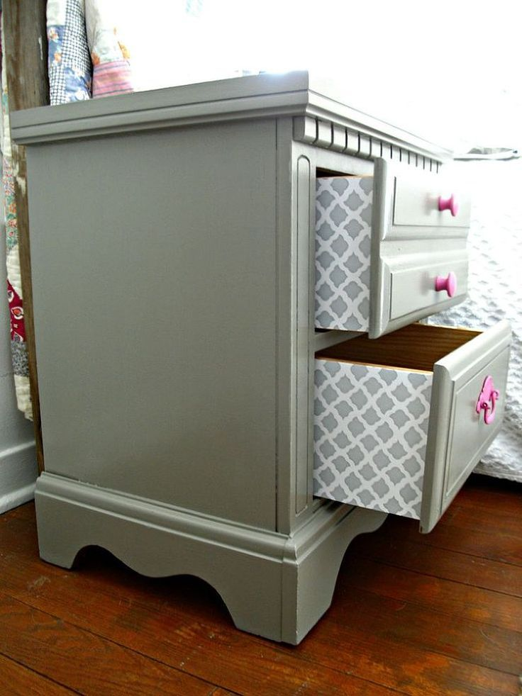 Hometalk :: Trash to Treasure Nightstand Redo