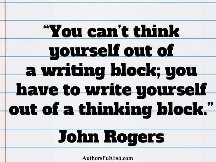 What to do with writer's block!?