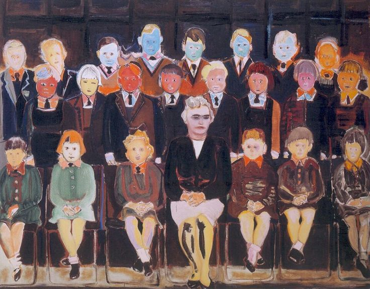 Marlene Dumas, The Teacher (Sub A), 1987 oil on canvas 160 x 200 cm
