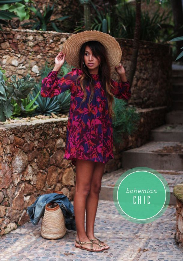 Bohemian chic | Camille Styles. Fashion Trend 2014. More inspiration at Valencia Bed and Breakfast : http://www.valenciamindfulnessretreat.org MINUS THE HAT!