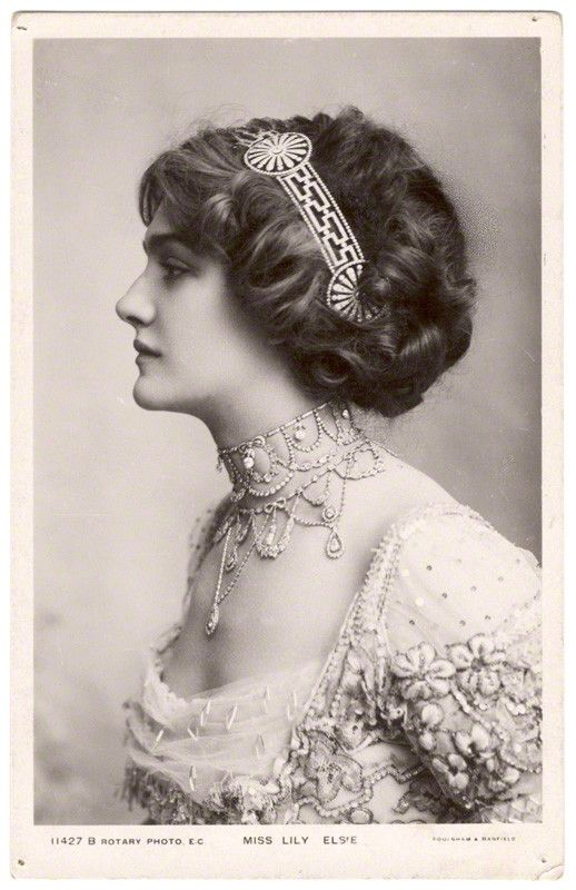 The Edwardian actress Lily Elsie.
