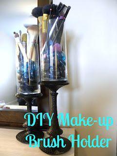 DIY Make-up Brush Holder. Mostly Dollar Tree items!