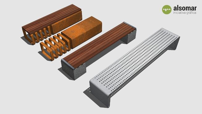 Several benches - 3D Warehouse