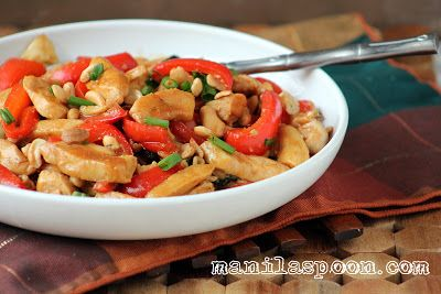 Manila Spoon: Chicken and Cashew Nuts Stir-fry (make w/ coconut oil!)