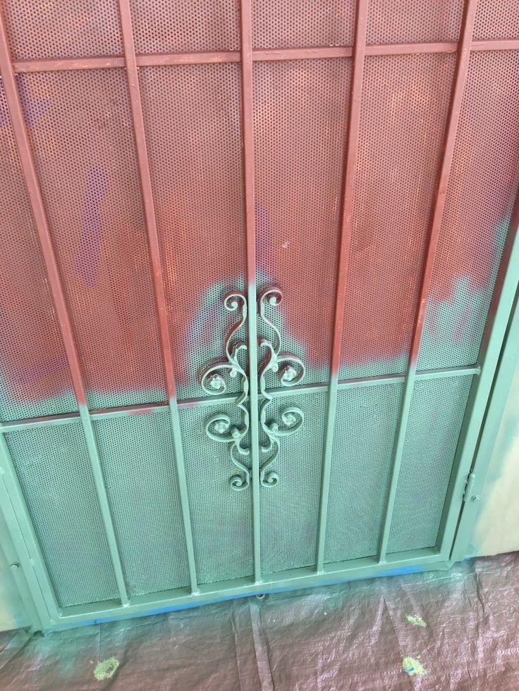 Security Door Makeover Screen Door Diy The Sparkly