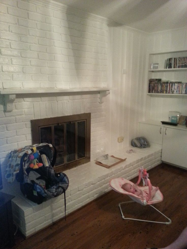How To Add Texture And Color To A Brick Fireplace That Has
