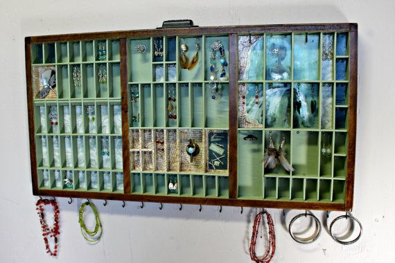 Unique Jewelry Display made from Printer Type by BizarreIntentions, $198.00