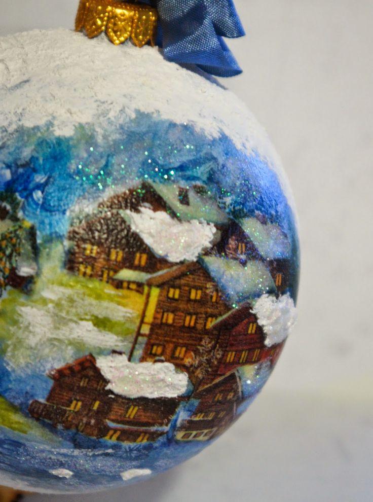 #handmade #decoupage #christmas #ornament #xmas #bombka #ozdoby #choinkowe