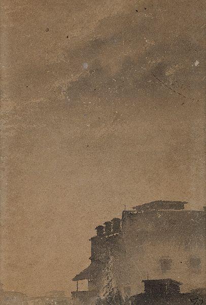 Gaganendranath Tagore, Untitled,  Watercolor on paper