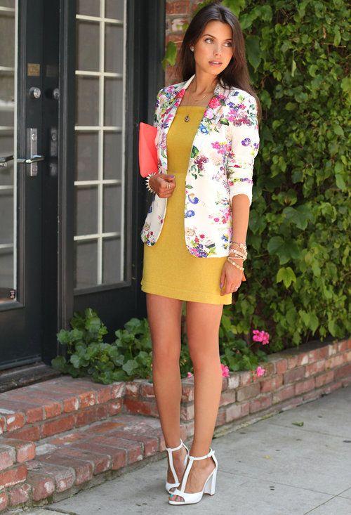 Botanical Bright  , Zara em Blazers, Zara em Saltos/Plataformas, Opportuno em Vestidos