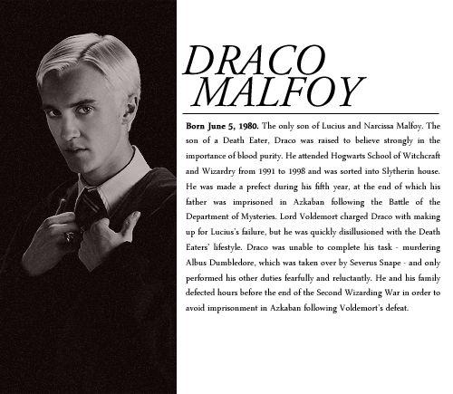 draco malfoy - harry potter