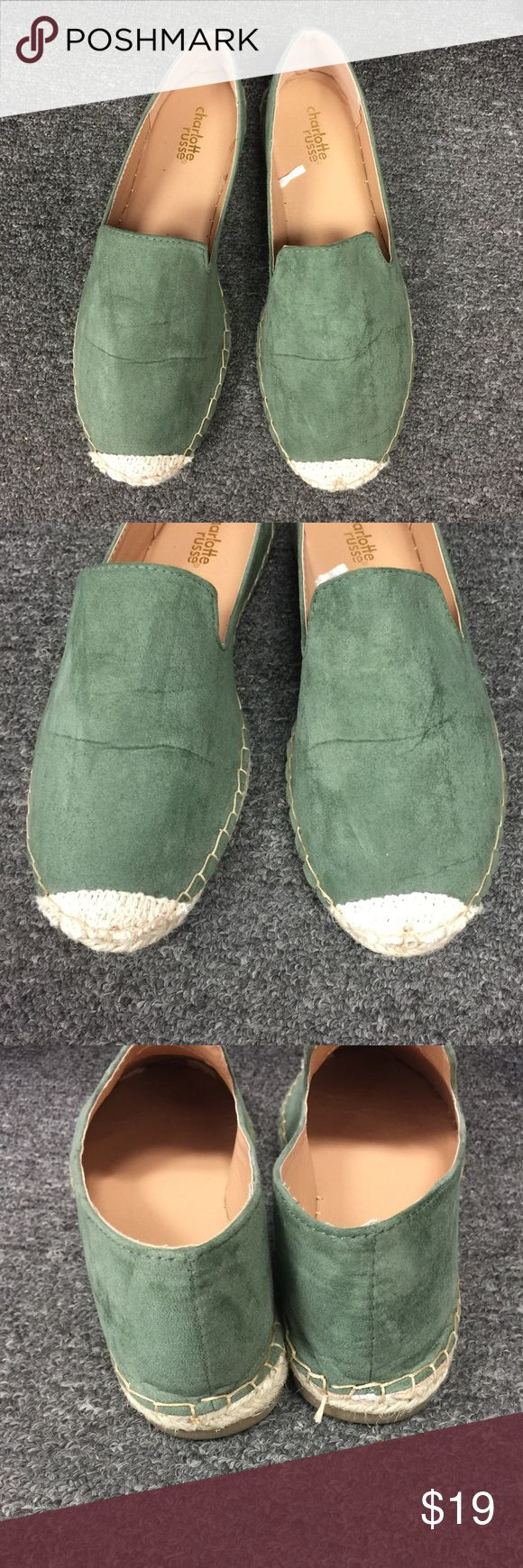 New in a Bag Pine Green Espadrilles Flats New Have many sizes come in a bag I love with this color very comfy you can wear with a dress or with some jeans very comfy flats                 ----Check out more styles----                             Many Sizes available Charlotte Russe Shoes Flats & Loafers