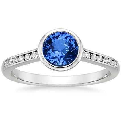 Platinum Sapphire Luxe Luna Diamond Ring from Brilliant Earth