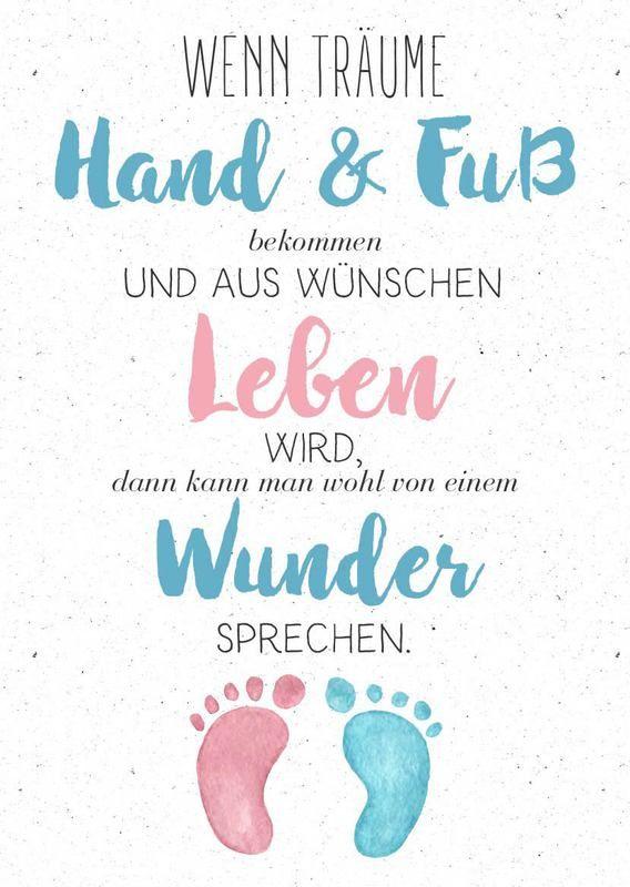 Babykarte mit süßen Füßen