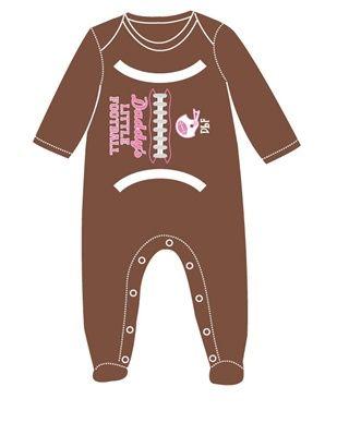 Daddy's Little Football Girl Footsie by Sara Kety Baby & Kids