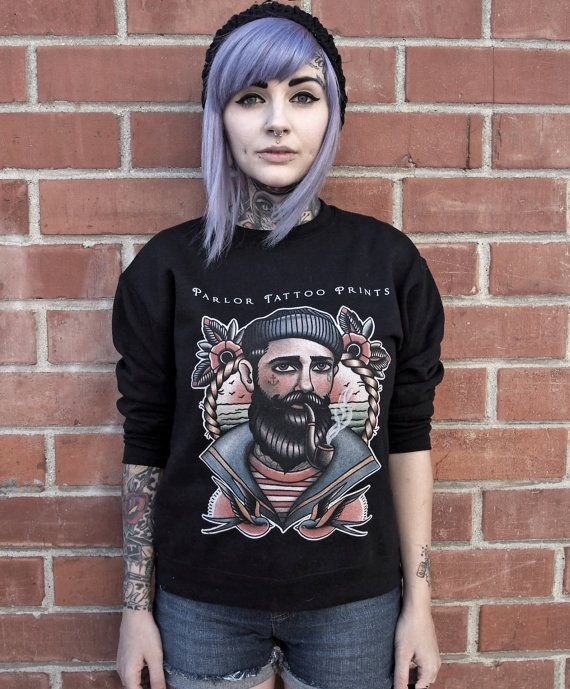 Seaman Tattoo UNISEX Crewneck Sweatshirt